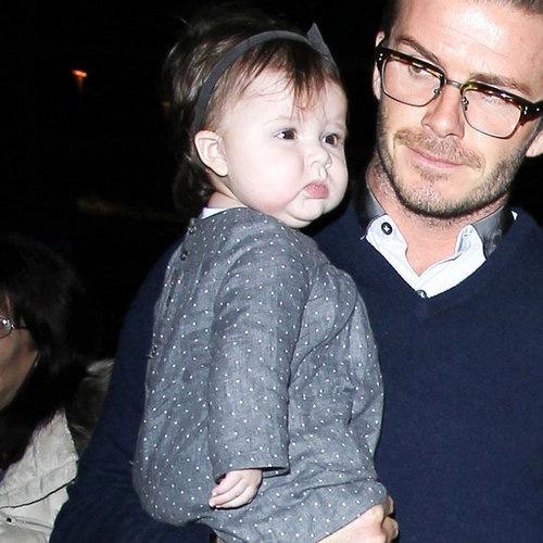 Harper and David Beckham in London