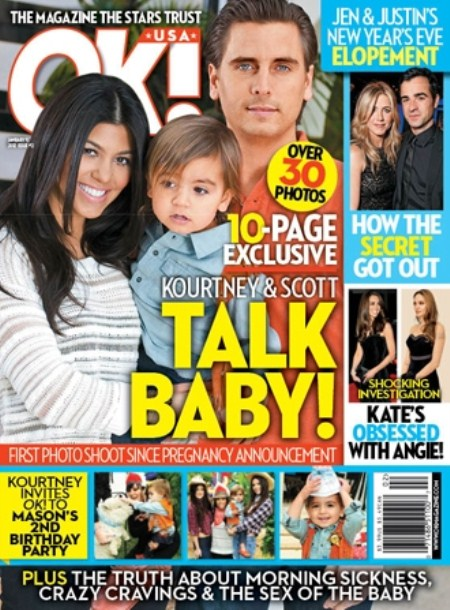 Kourtney Kardashian and Scott Disick Talk About Their New Baby (Photo)
