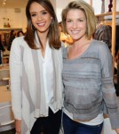 Actress Jessica Alba (L) and actress Ali Larter attend the Splendid Store Opening with Crafting Community and Baby2Baby at the Splendid Store on December 4, 2011
