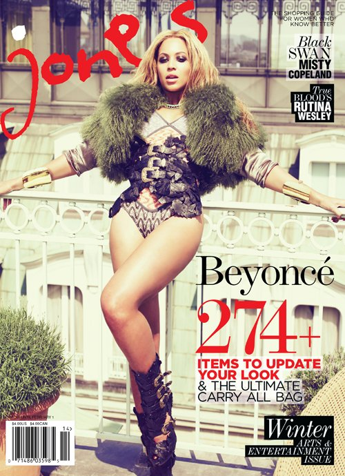 Beyoncé Covers Jones Magazine's 2011/12 Winter