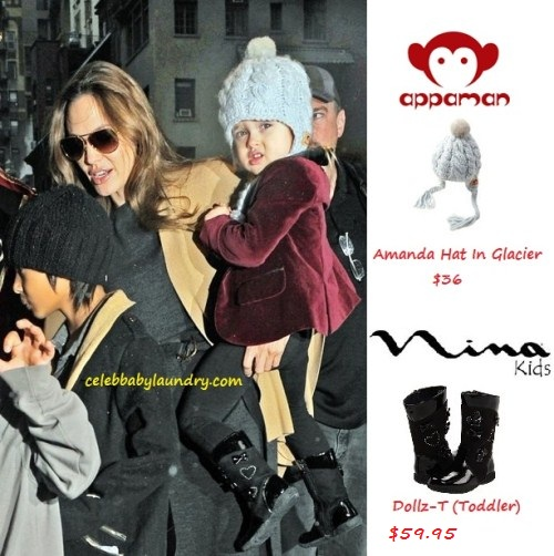 Celeb Baby Style: Vivienne Jolie-Pitt Winter Attire