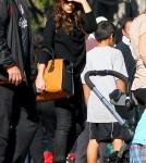 David & Victoria Beckham attend Romeo's Soccer Game with Harper in Santa Monica, Ca (December 10).