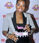 """Fantasia Barrino of """"American Idol"""" fame arrives at Millions of Milkshakes at the Westfield Mall in Century City 11-24-2010"""