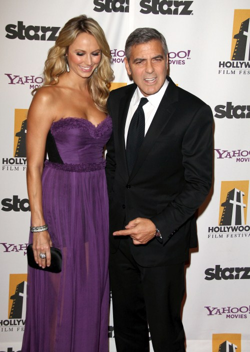 George Clooney and Stacy Keibler at The 15th Annual Hollywood Film Awards in Beverly Hills