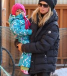Heidi Klum and Lou in Aspen (December 26).