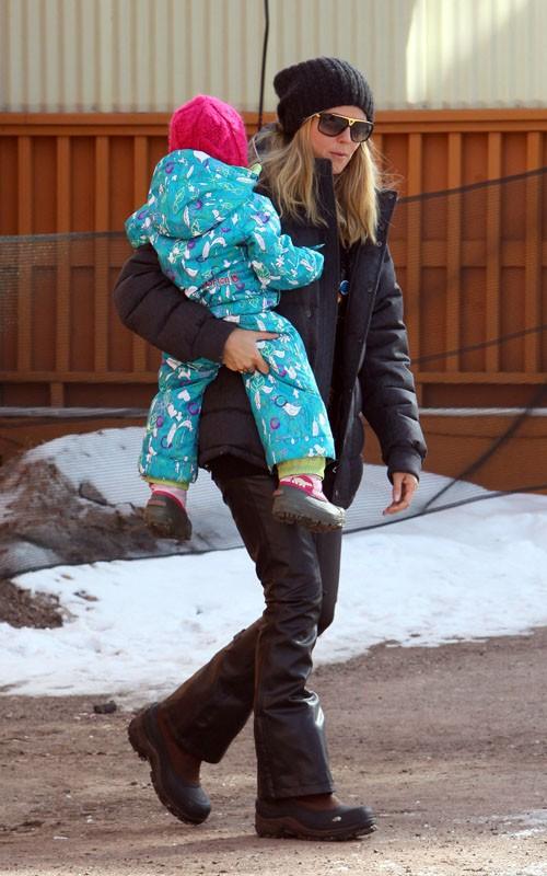 Heidi Klum and Lou in Aspen (December 26).