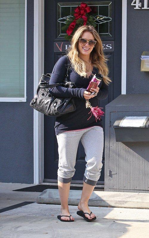Hilary Duff a Pilates Class in Toluca Lake (December 15).
