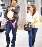 Jennifer Garner joined her husband Ben Affleck and their eldest daughter Violet for a stroll in Santa Monica, California on November 30, 2011.