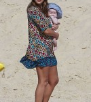 Jessica Alba spending the day at the beach with her two daughters Honor and Haven in Cabo (December 30)