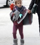 Jessica Alba and Cash Warren take their daughters Honor and Haven out for lunch in West Hollywood, CA.