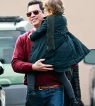 Jessica Alba and her husband Cash Warren drop off their daughter Honor at school in Santa Monica.