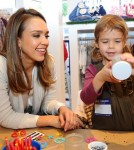 Jessica Alba and daughter Honor at the Splendid store opening event (December 4)