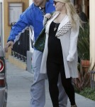 Jessica Simpson out to lunch in Brentwood with fiance Eric Johnson (December 27)