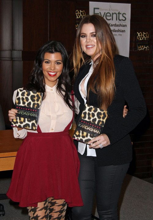 Khloe Kardashian and Kourtney Kardashian at Dollhouse Book Signing held at Barnes & Noble at The Grove in Los Angeles, California on November 18th, 2011. Kourtney Kardashian, Khloe Kardashian