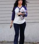 """Kourtney Kardashian, star of """"Kourtney and Kim Take New York,"""" leaves a studio in Los Angeles."""