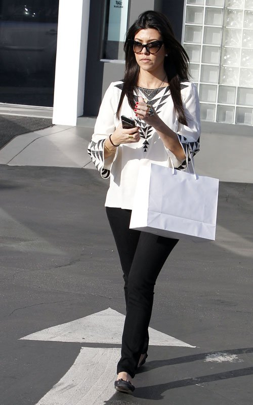Kourtney Kardashian out shopping at Diane Von Furstenberg and Fred Segal in West Hollywood, CA