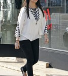 Kourtney Kardashian out shopping at Diane Von Furstenberg and Fred Segal in West Hollywood, CA