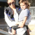 Kourtney Kardashian, Scott Disick and their son Mason at Barney's New York (December 10)