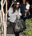 Kourtney Kardashian and Scott Disick at the movies with Mason, Kylie and Kendall