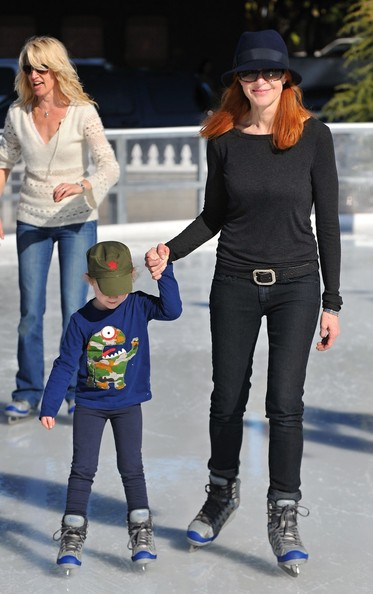 Marcia Cross Enjoys An Ice Skating Day With Family