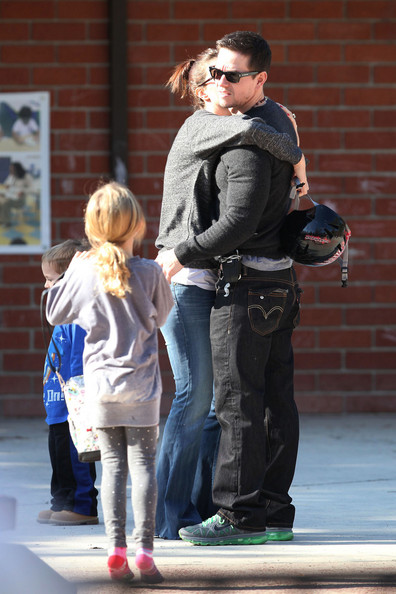Mark Wahlberg spends quality time with his wife Rhea Durham and children, Ella Rae, Michael, Brendan Joseph and Grace Margaret at a park in Beverly Hills.