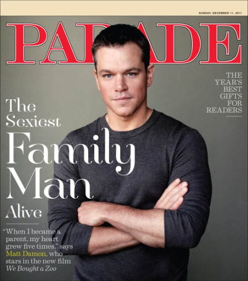 matt damon parade magazine cover jan 11 2011