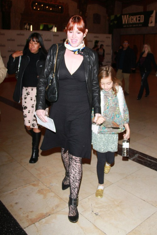 "Molly Ringwald and her daughter attending the opening night of ""Wicked"" at the Pantages Theatre, Hollywood 12-01-2011"