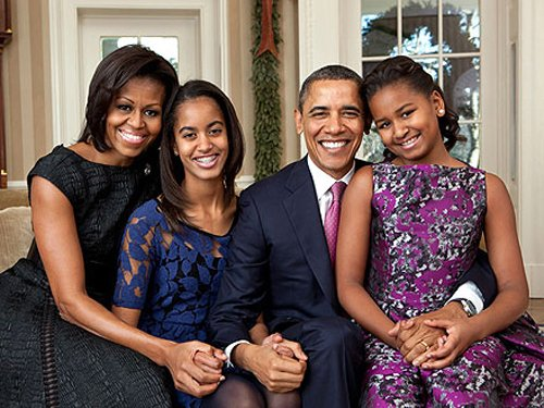 Obama Family Releases New Family Portrait