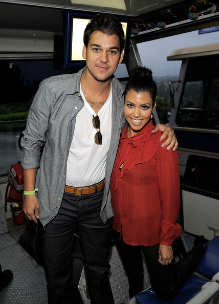 Rob and Kourtney Kardashian