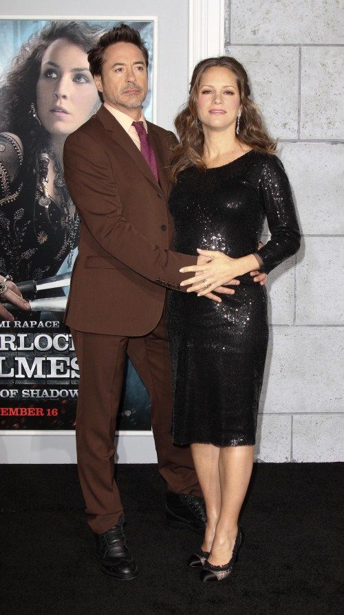 Robert Downey JR Glows With His Pregnant Wife Susan