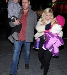 "Tori Spelling and Family at the Disney on Ice Premieres ""Toy Story 3"""