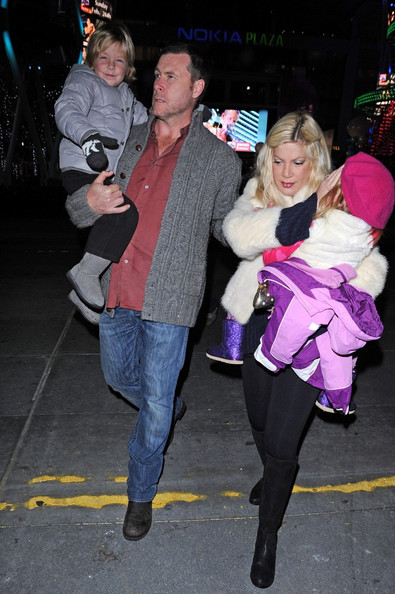 Tori Spelling & Family Attend Disney on Ice's Toy Story 3