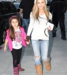 "TV series actress Lilit Vivian of ""The Sinners"" and her daughter made their way back to the parking structure after a visit to the doctors office on December 8, 2011 in Beverly Hills, California."