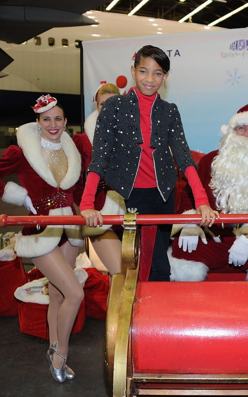 Willow and Will Smith at the 2011 Holiday In The Hangar (December 6).