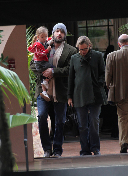 Ben Affleck and his wife Jennifer Garner are seen leaving the Bel Air Hotel after having lunch with their daughters Violet Anne and Seraphina in Los Angeles. After lunch Jennifer takes Violet to dance class.