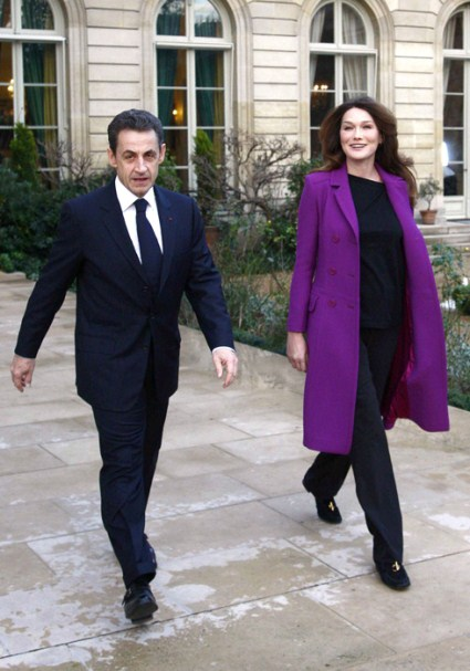 Carla Bruni-Sarkozy Shows Off Her Post Baby Body