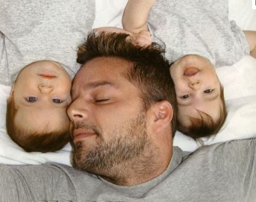 Ricky Martin And Twins