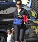 Sandra Bullock Picks Up Louis From School