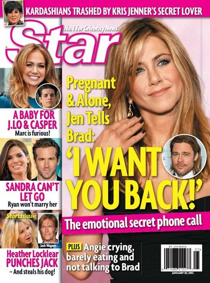 Pregnant Jennifer Aniston Wants Brad Pitt Back!