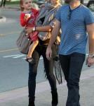 Alessandra Ambrosio taking Anja and her baby bump for some ice cream in Malibu (January 29)