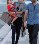 Alessandra Ambrosio taking Anja and her baby bump for some ice cream in Malibu (January 29)