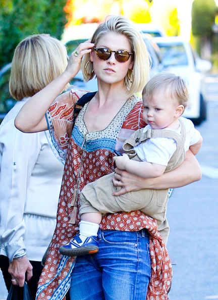 Ali Larter & Son Spend The Day Out