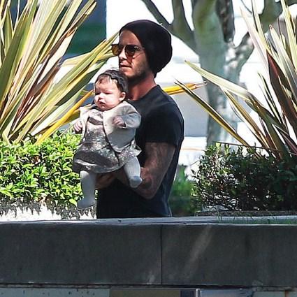 David Beckham And His Little Princess