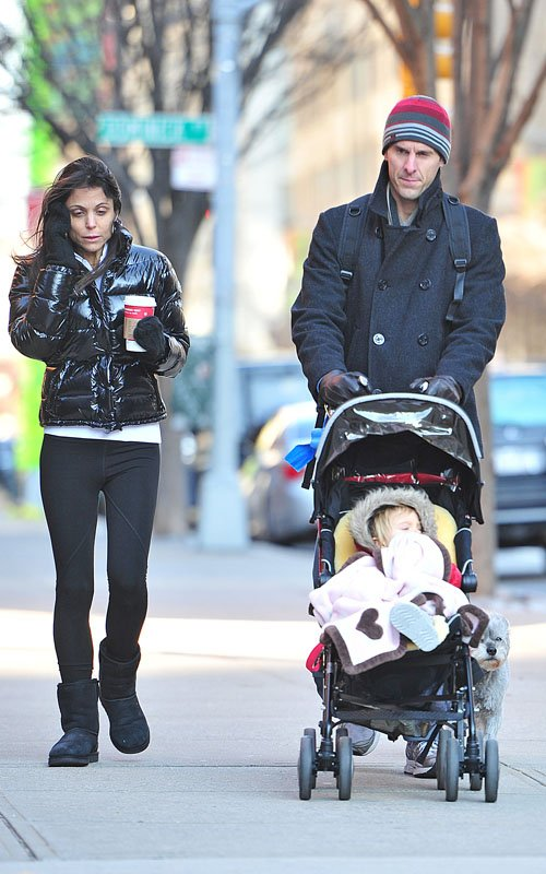 Bethenny Frankel out in NYC with husband Jason Hoppy and daughter Bryn (January 2)