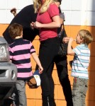 Britney Spears and fiance Jason Trawick taking Sean Preston and Jayden James to go bowling (January 29)