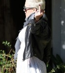 Pink and husband Carey Hart taking their daughter Willow to a friends house in Santa Monica, CA on January 26, 2012
