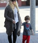Christina Aguilera, along with her boyfriend Matthew Rutler, take her son Max to Legoland for his birthday.