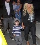 Christina Aguilera and Boyfriend Matthew Rutler Take Max Bratman to the Immortal World Tour by Cirque du Soleil (January 29)