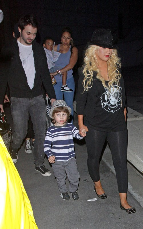Christina Aguilera and Boyfriend Matthew Rutler Take Max Bratman to the Immortal World Tour by Cirque du Soleil (January 29)