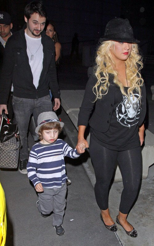 Christina Aguilera and Boyfriend Matthew Rutler Take Max ...: http://celebbabylaundry.com/2012/01/christina-aguileras-spends-a-night-out-with-her-boys/christina-aguilera-son-max-6/